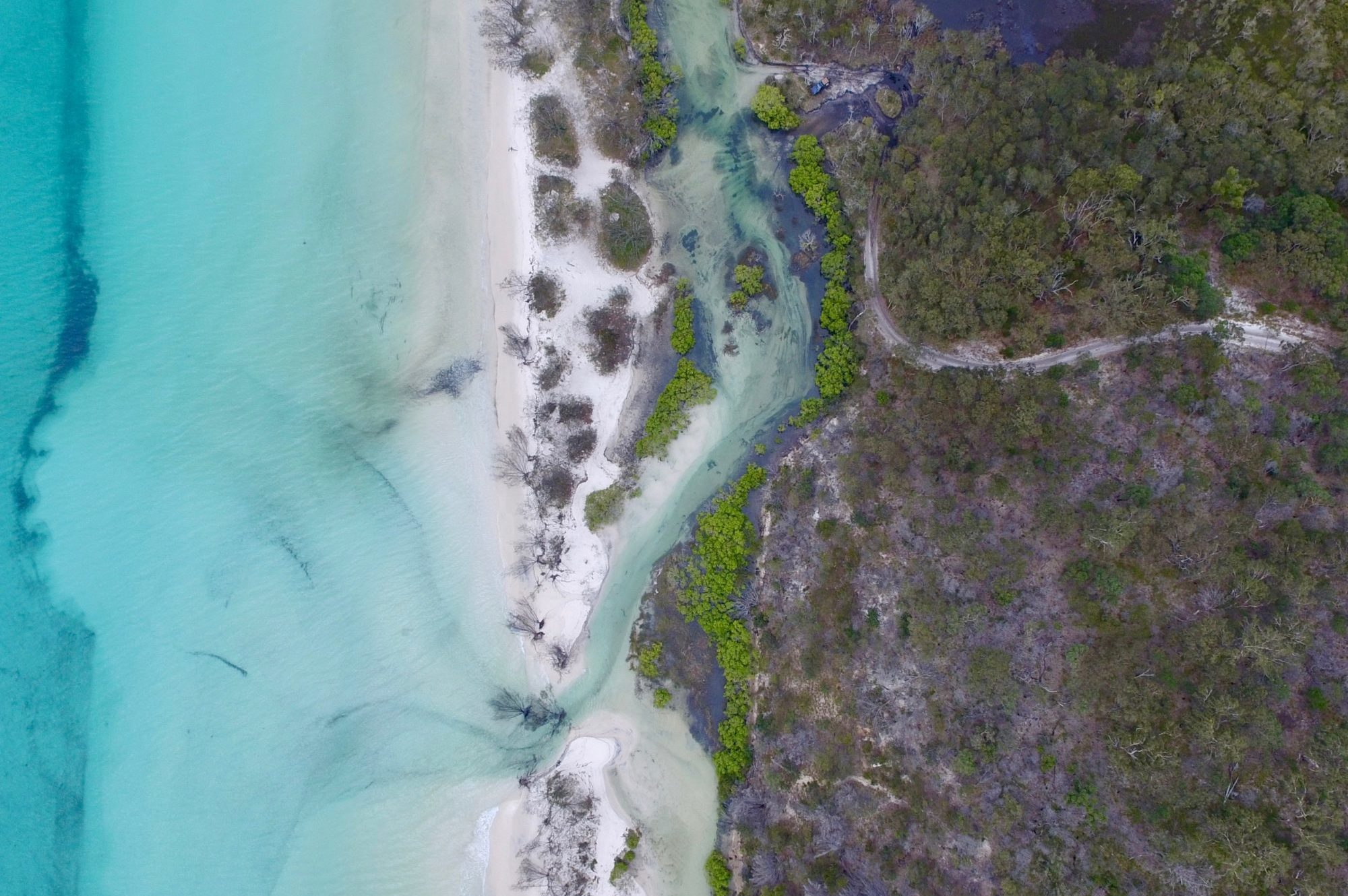 Aerial Photography – Awinya Creek, Fraser Island